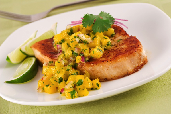 Wild-Caught Haddock with Mango Salsa
