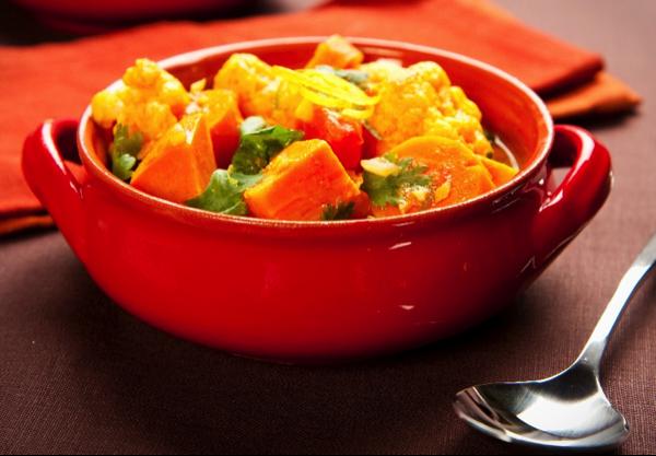 Coconut Vegetable Curry with Cilantro Quinoa