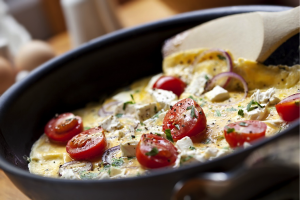 Roasted Red Pepper, Spinach and Feta Frittata