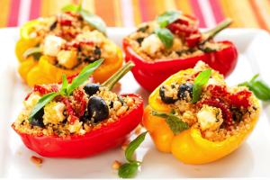Greek-Style Stuffed Bell Peppers