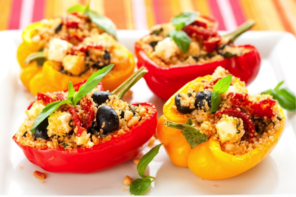 Greek-Style Stuffed Bell Peppers