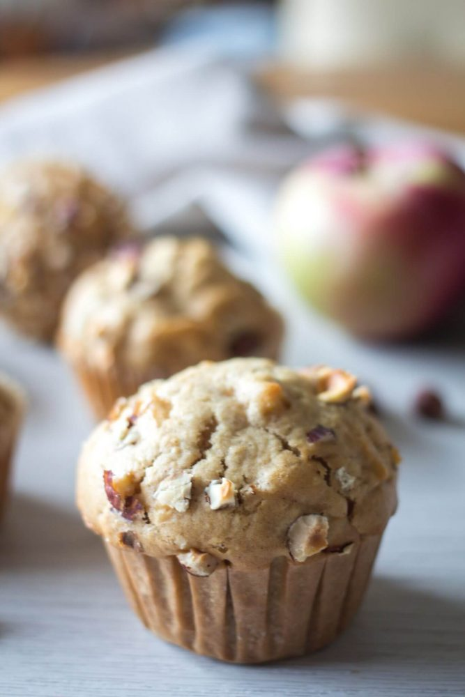 recipe for Apple and cinnamon muffins